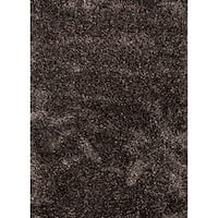 Axel Solid Black/ Brown Area Rug (9' X 12') - 9' x 12'