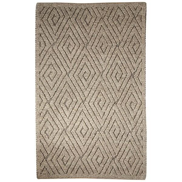 Lamont Handmade Geometric Gray/ Cream Area Rug (2' X 3') - 2' x 3'