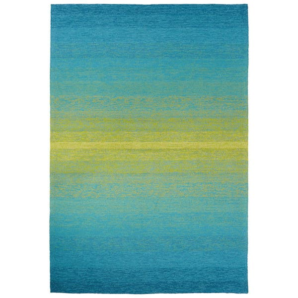 Ombre Blue Lime Green Area Rug
