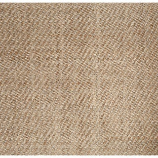 Naturals Solid Pattern Natural Jute Area Rug (5' x 8')