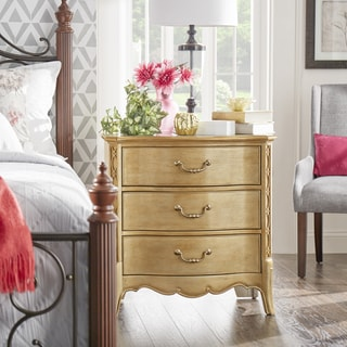 Elizabeth 3-drawer Champagne Gold Finish Accent End Table