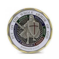 Put-on-the-Whole Armor of God Ephesians 6:13:17 Airman Challenge Coin