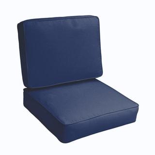 Sloane Dark Blue 23.5-inch Indoor/ Outdoor Corded Chair Cushion Set