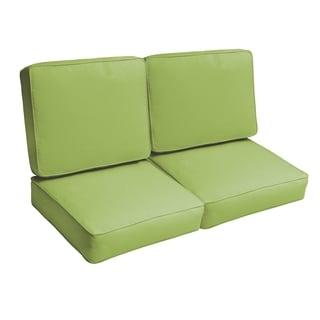Sloane Apple Green 47-inch Indoor/ Outdoor Corded Loveseat Cushion Set