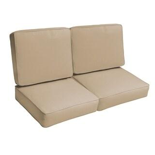 Sloane Beige 47-inch Indoor/ Outdoor Corded Loveseat Cushion Set
