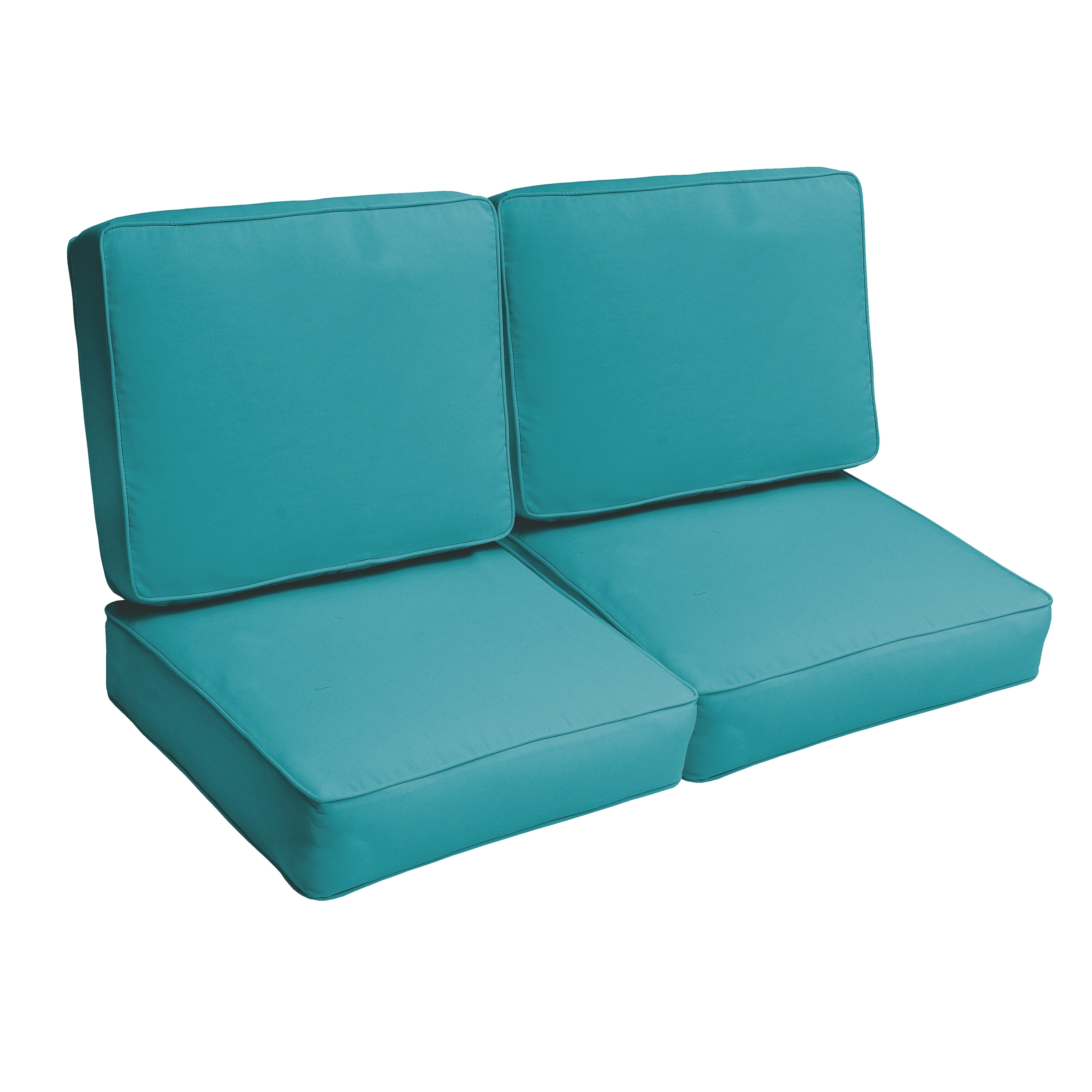 Shop Black Friday Deals On Sloane Aqua Blue 47 Inch Indoor Outdoor Corded Loveseat Cushion Set Overstock 11390117
