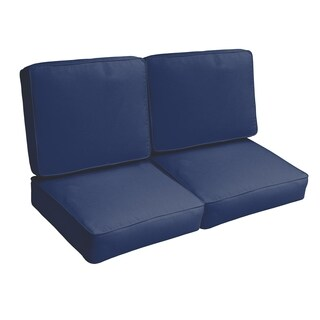 Sloane Dark Blue 47-inch Indoor/ Outdoor Corded Loveseat Cushion Set