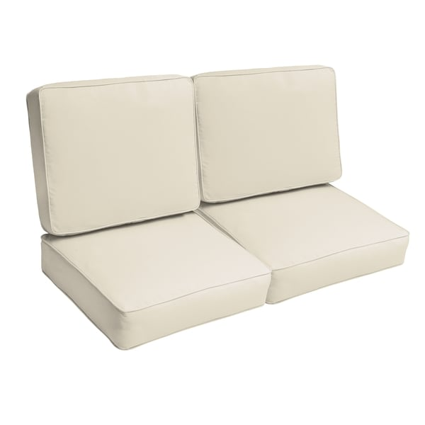Shop Sloane Ivory 47 Inch Indoor Outdoor Corded Loveseat Cushion