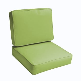 Sloane Apple Green 23.5-inch Indoor/ Outdoor Corded Chair Cushion Set