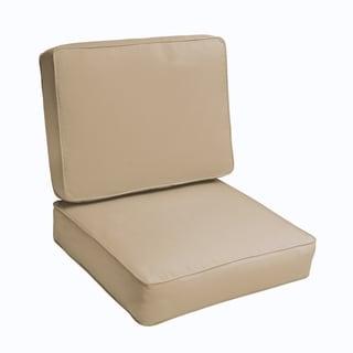 Sloane Beige 23.5-inch Indoor/ Outdoor Corded Chair Cushion Set