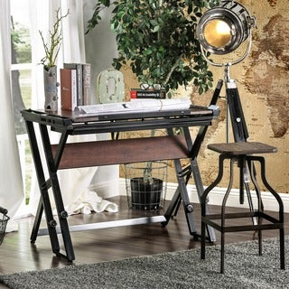 Furniture of America Robbie Modern Height Adjustable Black/Espresso Drafting Desk