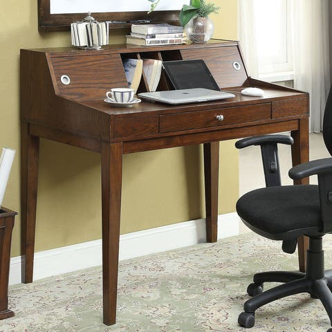 Furniture of America Deerling Rustic Cherry Storage Desk