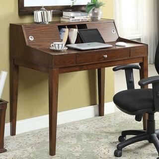 Furniture of America Deerling Rustic Cherry Storage Desk