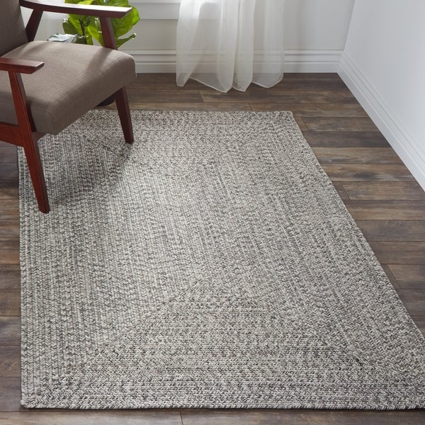 Nuloom Grey Indoor Outdoor Braided Area Rug 4 X 6
