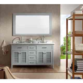 Kensington 61-inch Double Sink Grey Vanity Set