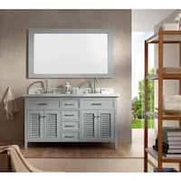 Kensington 61-inch Double Sink Grey Vanity Set