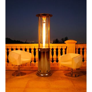 Lava Heat Italia Cylindrical 7.5-feet Commercial Natural Gas Flame Patio Heater (Non-Remote)
