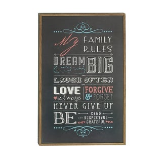 Quoted Wood Wall Decor Print