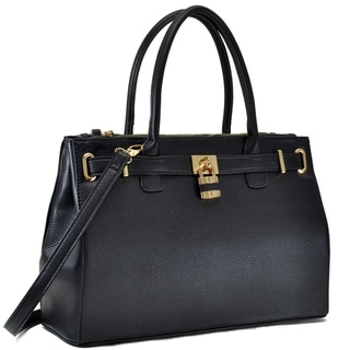 Link to Dasein Faux Leather Padlock Double Zipper Satchel Handbag Similar Items in Shop By Style
