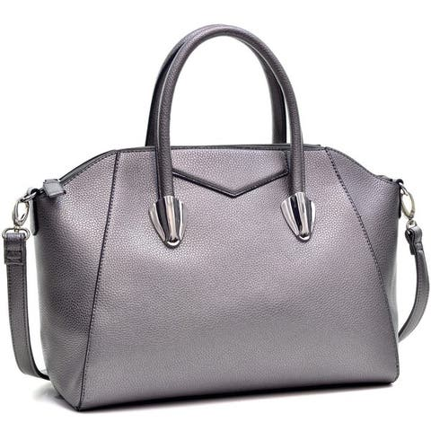 0d0fa297c80a Buy Silver Satchels Online at Overstock | Our Best Shop By Style Deals
