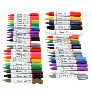 Sharpie Paint Marker Extra Fine, Fine, Medium, Bold Point Oil Based All 43 Color Set