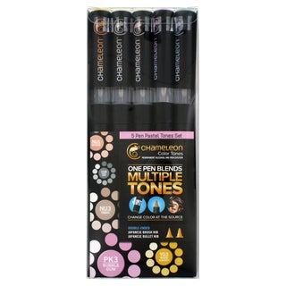 Chameleon Color Tones Double-Ended Brush Pens (Set of 5)