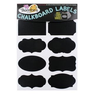 Thornton's Art Supply Premium Chalkboard Labels with 2 White Liquid Chalk Markers