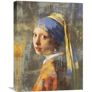 Global Gallery Eric Chestier 'Vermeer's Girl 2.0' Stretched Canvas Artwork