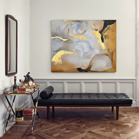 Silver Orchid Golden Gobi Unframed Canvas