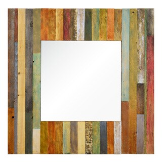 Ren Wil Barn Door Framed Square Mirror