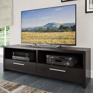 CorLiving Fernbrook Black Faux Wood Grain TV Stand
