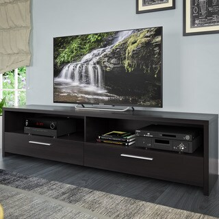 CorLiving Fernbrook Black Faux Wood TV Stand