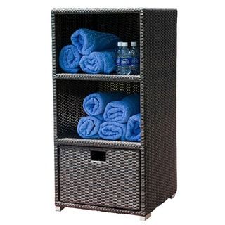 Modern Home Spa Resort Woven Wicker Towel Valet