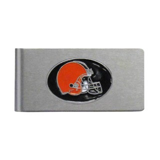 Cleveland Browns Sports Team Logo Brushed Metal Money Clip