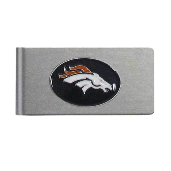 Denver Broncos Sports Team Logo Brushed Metal Money Clip