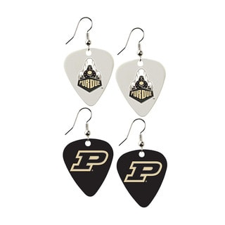 Purdue Boilermakers NCAA Guitar Pick Dangle Earrings Charm Gift (Set of 2)