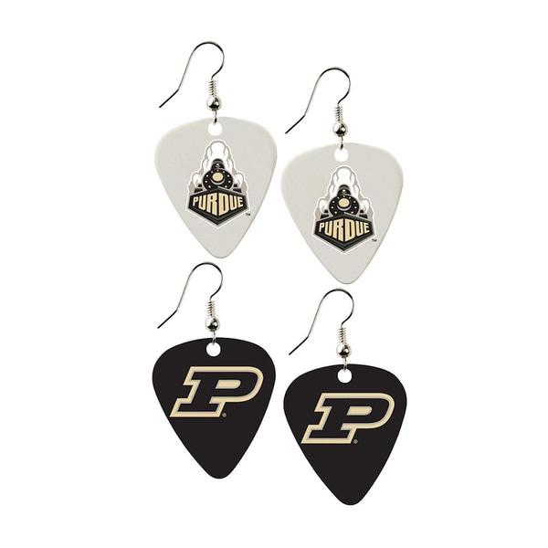 Purdue Boilermakers NCAA Guitar Pick Dangle Earrings Charm Gift (Set of 2)