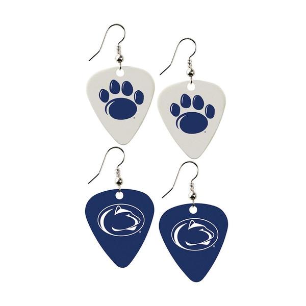 Penn State Lions NCAA Guitar Pick Dangle Earrings Charm Gift (Set of 2)