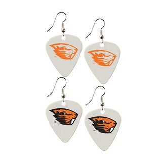 Oregon State Beavers NCAA Guitar Pick Dangle Earrings Charm Gift (Set of 2)