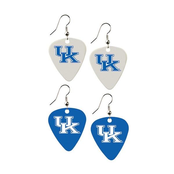 Kentucky Wildcats NCAA Guitar Pick Dangle Earrings Charm Gift (Set of 2)