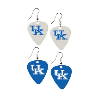 Kentucky Wildcats NCAA Guitar Pick Dangle Earrings Charm Gift (Set of 2)
