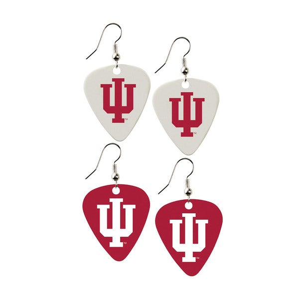 Indiana Hoosiers NCAA Guitar Pick Dangle Earrings Charm Gift (Set of 2)