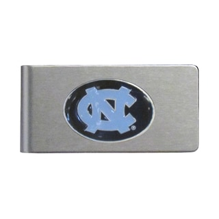 North Carolina Tar Heels Sports Team Logo Brushed Metal Money Clip