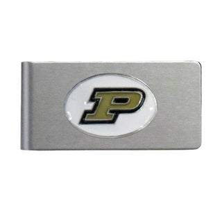 Purdue Boilermakers Sports Team Logo Brushed Metal Money Clip