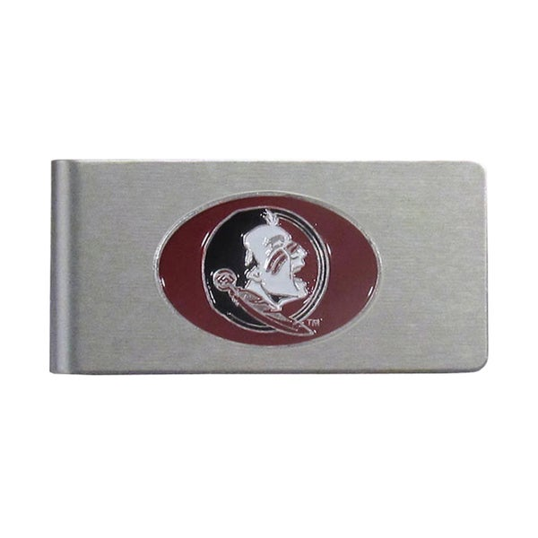 Florida State Seminoles Sports Team Logo Brushed Metal Money Clip