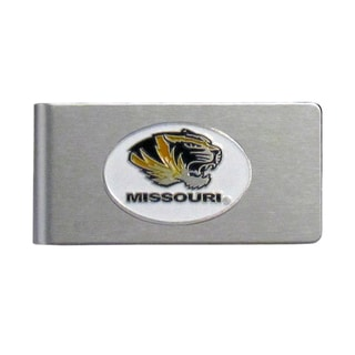 Missouri Tigers Sports Team Logo Brushed Metal Money Clip