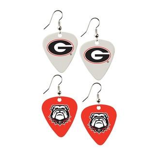 Georgia Bulldogs NCAA Guitar Pick Dangle Earrings Charm Gift (Set of 2)
