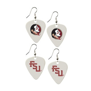 Florida State Seminoles NCAA Guitar Pick Dangle Earrings Charm Gift (Set of 2)