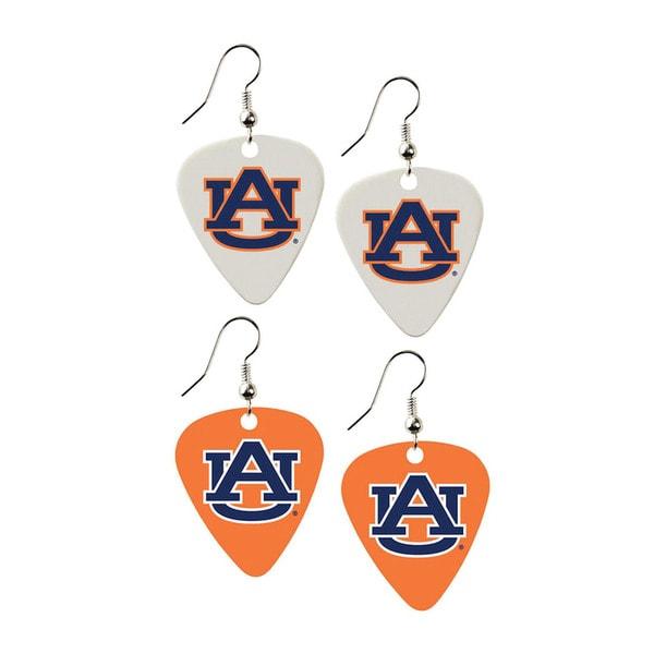Auburn Tigers NCAA Guitar Pick Dangle Earrings Charm Gift (Set of 2)