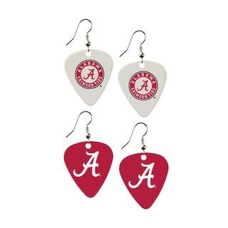 Alabama Crimson Tide NCAA Guitar Pick Dangle Earrings Charm Gift (Set of 2)